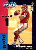 1995 Collector's Choice Crash the Game Gold #C19 Joe Montana Ad Card