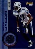 2001 Pacific Invincible Blue #238 Kevin Dyson Jersey  MEM #'d/250