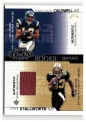 2002 Playoff Honors Rookie Tandems/Quads #RQ21 Stall/Cald/Walker/Johns VG/EX #'d/500
