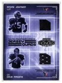 2003 Playoff Honors Jersey Quads #JQ3 Andre Johnson/Dave Ragone/Chris Brown/Tyrone Calico  #'d/250