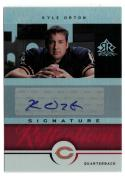 2005 Reflections Signature Reflections Red #SRKO Kyle Orton
