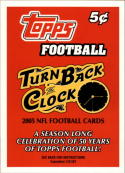 2005 Topps Turn Back the Clock #NNO Promo Card