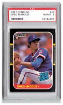 1987 Donruss #36 Greg Maddux PSA 8 RC-Rookie Cubs