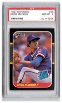 1987 Donruss #36 Greg Maddux PSA 8 RC-Rookie Cubs