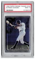 1999 Topps Chrome Traded #T65 Alfonso Soriano RC Graded PSA 9 Mint