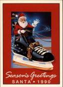 1990-91 7th Inning Sketch OHL #NNO Season's Greetings Santa Card 1990 David Branch