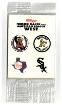 1992 Kellogg's Frosted Flakes AMERICAN LEAGUE WEST STICKERS DECALS #NNO (Unopened)