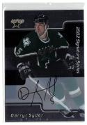 2001-02 BAP Signature Series Autographs #182 Darryl Sydor NM Near Mint Autograph Stars