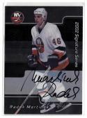 2001-02 BAP Signature Series Autographs #240 Radek Martinek   NY Islanders