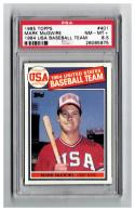 1985 Topps #401 Mark McGwire OLY RC Graded PSA 8.5 NM-MT+