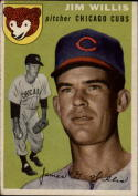 1954 Topps #67 Jim Willis VG/EX Very Good/Excellent RC Cubs