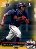 2017 Bowman Prospects Yellow #BP127 Ronald Acuna  Braves Baseball