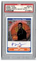 2006-07 TOPPS ROOKIE PHOTO SHOOT AUTOGRAPHS #BJ BOBBY JONES  PSA 10