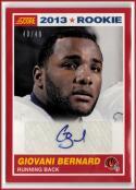 2013 Score Rookie Signatures #369 Giovani Bernard  RC Auto #'d 40/49