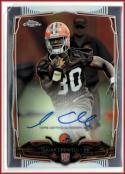 2014 Chrome Rookie Autographs #225 Isaiah Crowell  RC Auto Browns Football
