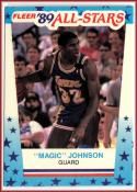 1989-90 Fleer Stickers #5 Magic Johnson  Lakers Basketball