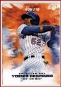 2016 Bunt Splatter Art #3 Yoenis Cespedes Online Exclusive  /457 Mets Baseball