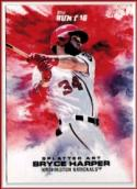 2016 Bunt Splatter Art #5 Bryce Harper  /457 Nationals Baseball