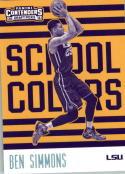 2016-17 Contenders Draft Picks School Colors #1 Ben Simmons  Basketball
