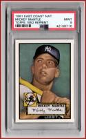 1991 Topps East Coast National Mickey Mantle Topps 1952 Reprint PSA 9 MINT