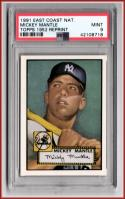 1991 East Coast National Mickey Mantle Topps 1952 Reprint  PSA 9 MINT